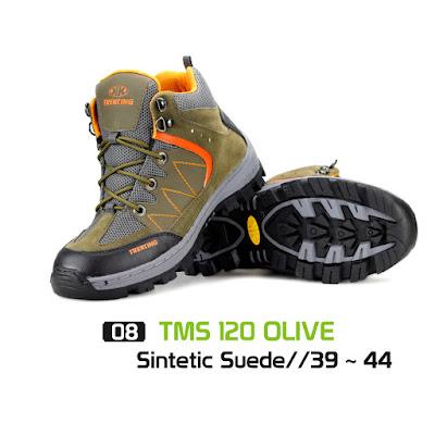 Sepatu Gunung Trekking TMS 120 Olive