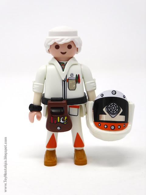 Doc Brown con traje contra radiactividad Playmobil Regreso al Futuro - Calendario de Adviento (Playmobil Back To The Future - Calendario de Adviento)