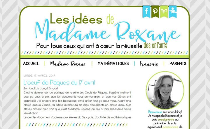 Les idées de Madame Roxane