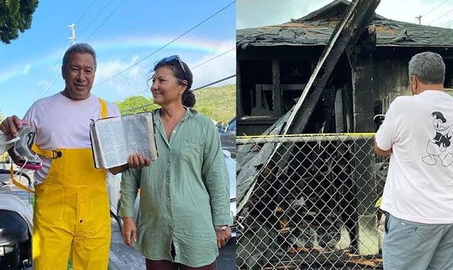 Família testemunha poder de Deus ao encontrar Bíblia intacta após incêndio em casa