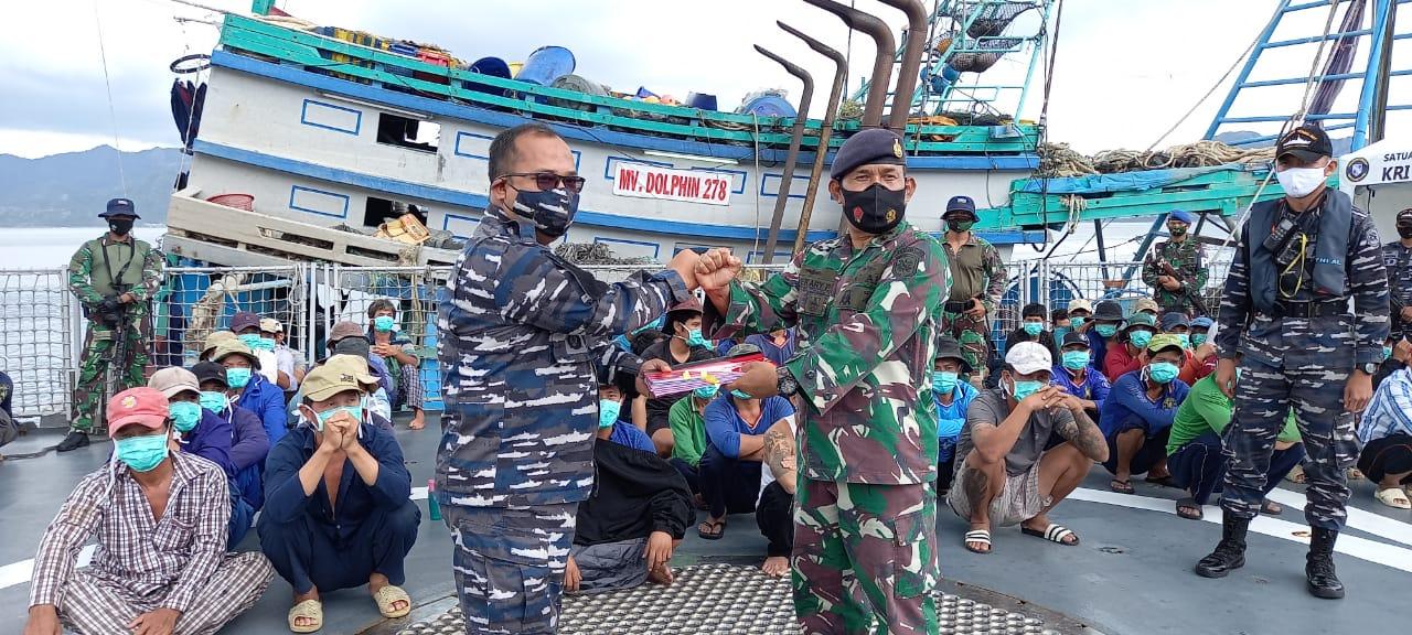 Lanal Ranai Kembali Menerima Kapal Ikan Asing Berbendera Vietnam Hasil Tangkapan Tangkapan KRI Bung Tomo - 357