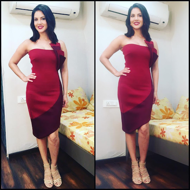 sunny-leone-in-hot-dress