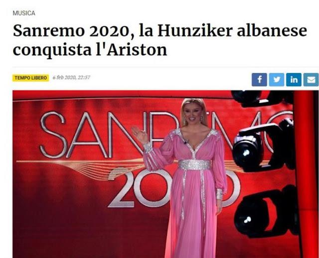 Alketa Vejsiu, the Albanian moderator who astonished Sanremo, Italian media say