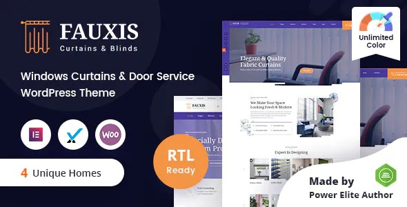 Best Windows Curtains WordPress Theme + RTL