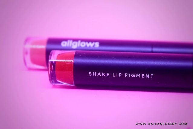 review allglows shake lip pigment