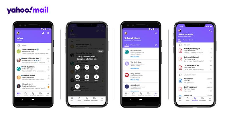 The new Yahoo Mail app