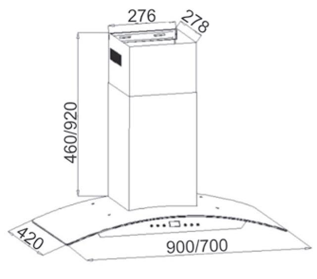 Máy Hút Mùi Canzy CZ-D900 chính hãng, giá tốt