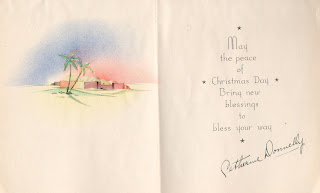 Catherine Donnelly Christmas card to Mary Theresa Sheehan Walsh before 1939 http://jollettetc.blogspot.com