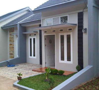 desain teras ruma hminimalis sederhana untuk rumah type 45