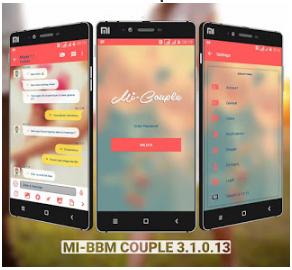 Download BBM MOD Sweet Couple Smooth Pink APK V3.1.0.13