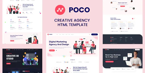 Best Bootstrap 4 Agency HTML Template