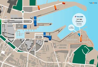 Tallinnan sataman uusi Check-in autoille kartta
