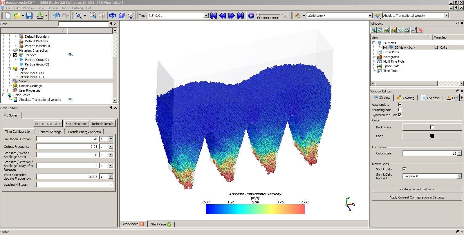 simulacion de materiales granulados