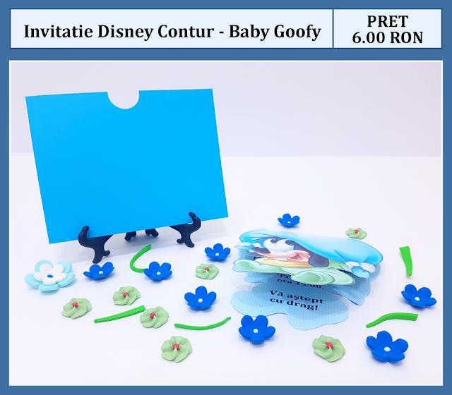 invitatii botez contur Baby Goofy