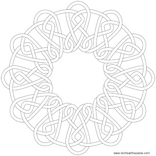 Coloring Page- round knotwork
