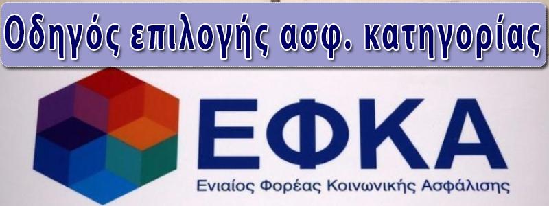 ΕΦΚΑ ΚΑΤΗΓΟΡΙΑ