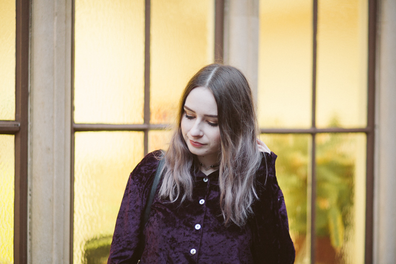The Crushed Velvet Shirt OOTD
