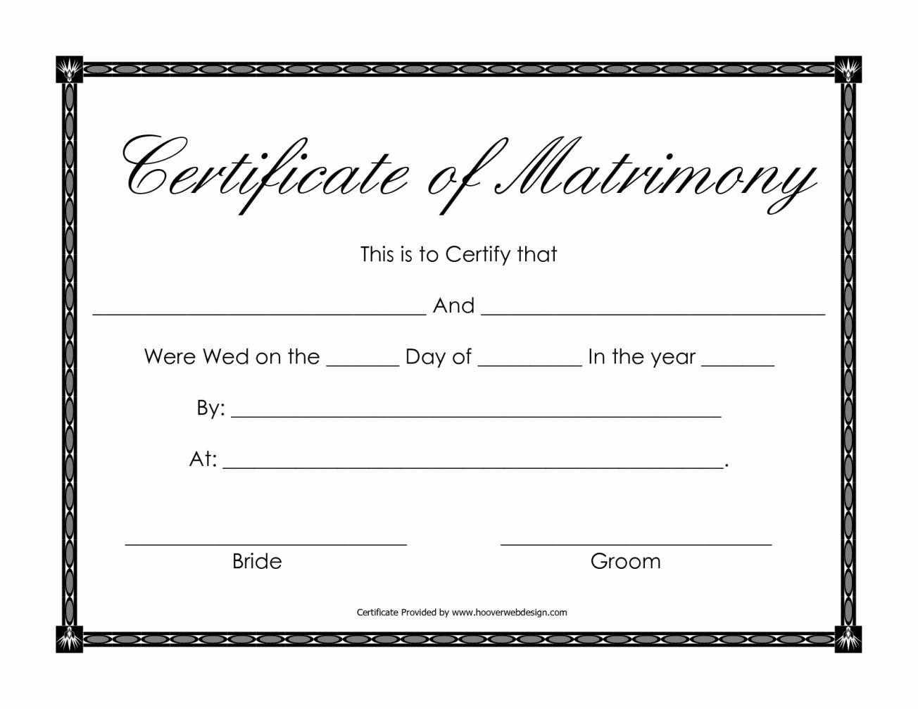 free marriage certificate template - certificate templates sample marriage certificates