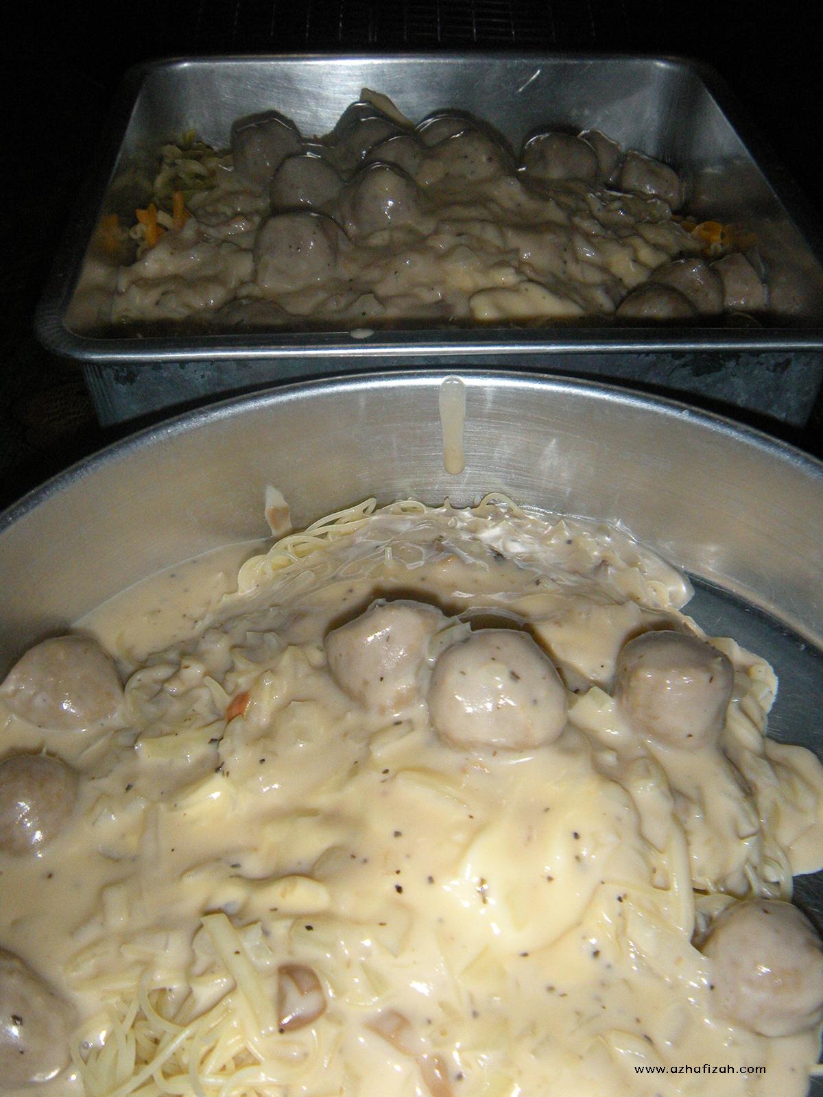 Resepi Spaghetti/Pasta Carbonara Cheesy Creamy