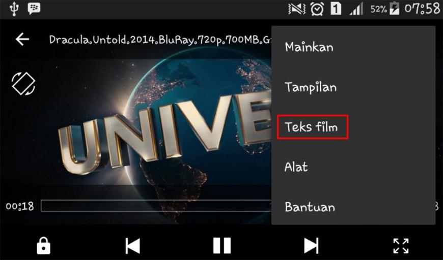 Cara Terbaru Menampilkan Subtitle Film di hp Android