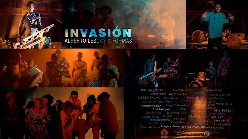 Alberto Lescay y FORMAS - ¨Invasión¨ - Videoclip - Director: Noel Rodríguez. Portal Del Vídeo Clip Cubano. Música cubana. Conga Santiaguera. Cuba.