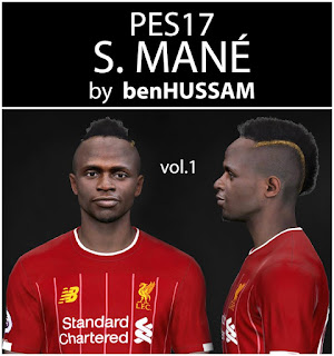 PES 2017 Faces Sadio Mané by BenHussam