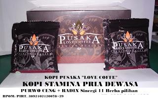 Jual Khasiat Minum Kopi Herbal PUSAKA LOVE COFFE Dongkrak Stamina Pria Dewasa