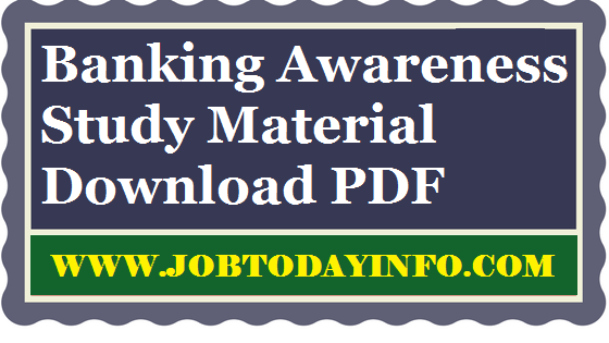 banking terminology pdf for upcoming IBPS, SBI & other competitive Bank examination PDF Download