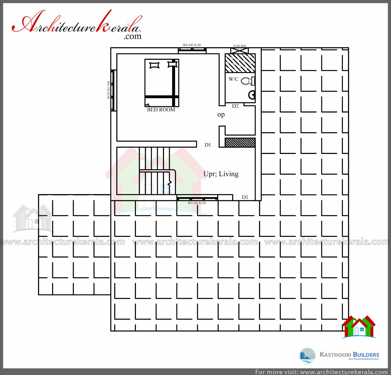 Low cost 3 bedroom kerala house plan with elevation free for 1600 sq ft house cost