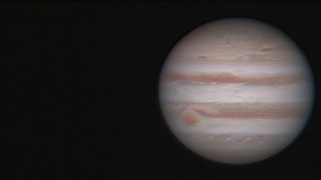 Una imagen en vivo de Júpiter (Foto: Dr. Yigal Fatel)