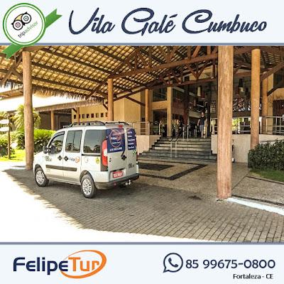 Serviço de transfer do aeroporto para o vila gale em cumbuco