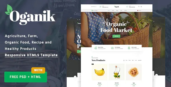 Best HTML Template For Organic Food Products & Agriculture Farm