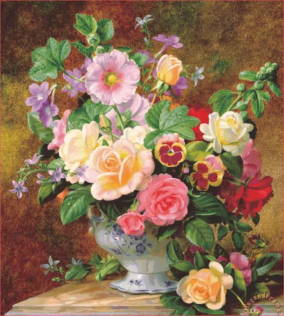 lukisan-bunga-mawar
