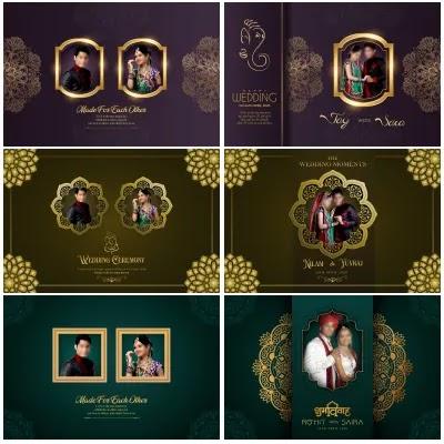 Best of 2020 Wedding Album Cover PSD