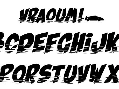 Vraoum Fancy Carton Font Free Download.