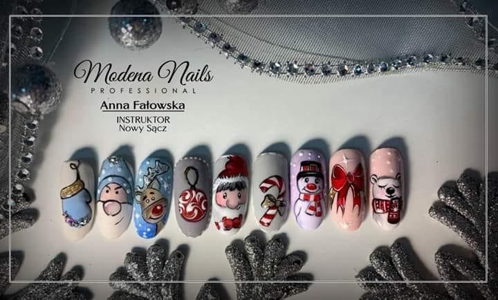 zimowe paznokcie inspiracje