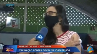 """""""Fora Bolsonaro!"""" Desabafo de paraibana vacinada em JP repercute na mídia nacional; veja vídeos"""