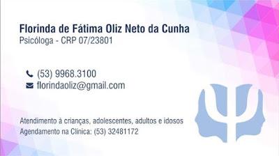 Florinda de Fátima Oliz Neto da Cunha Psicóloga