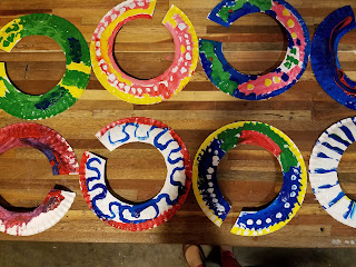 kids art project masaai necklaces made of paper plates