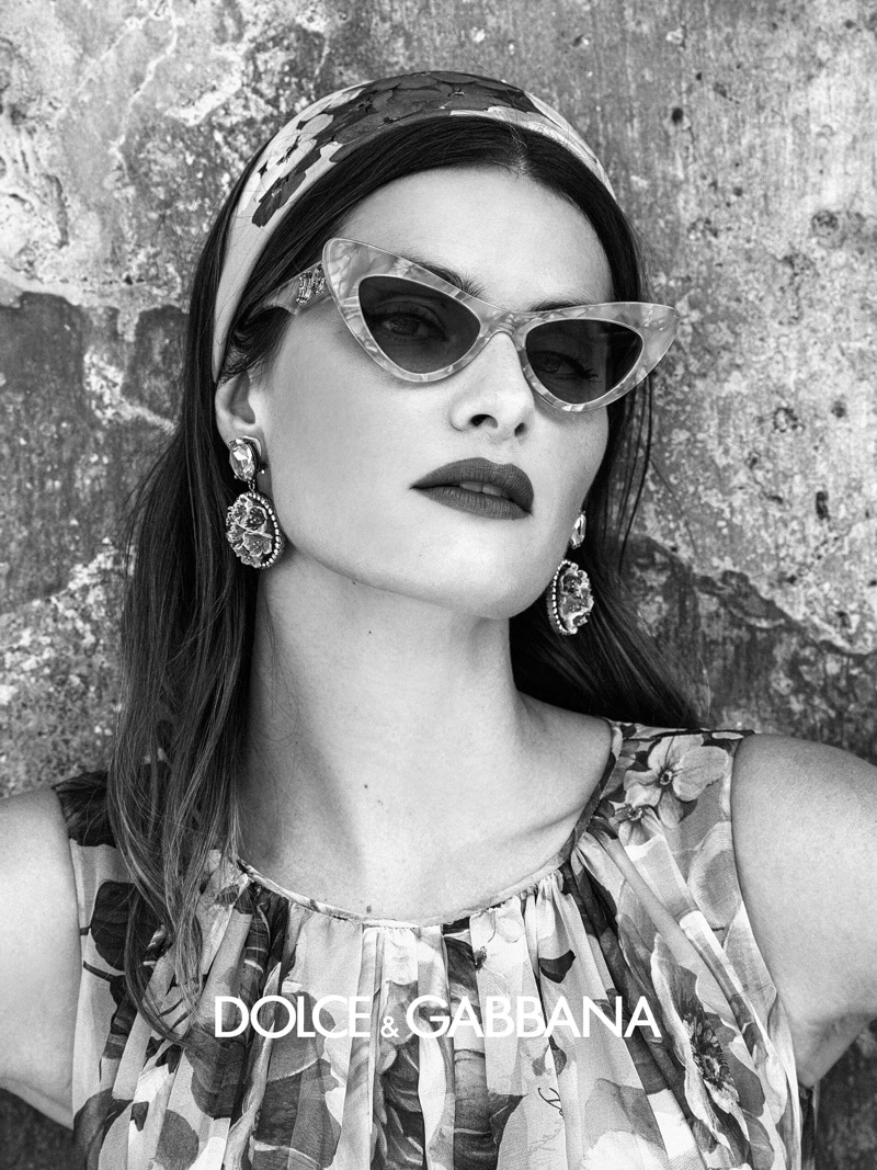 Cat eye sunglasses stand out in Dolce & Gabbana Eyewear spring-summer 2020 campaign