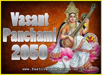 2050 Vasant Panchami Puja Date & Time, 2050 Vasant Panchami Calendar
