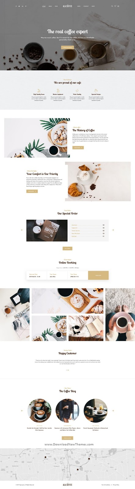 Restaurant & Cafe Sketch Template