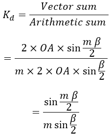 Distribution factor or Breadth factor