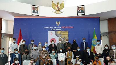 Pertama di Dunia, Indonesia - Ethiopia Student Correspondence Program (IESCOP) 2021 Digelar Virtual