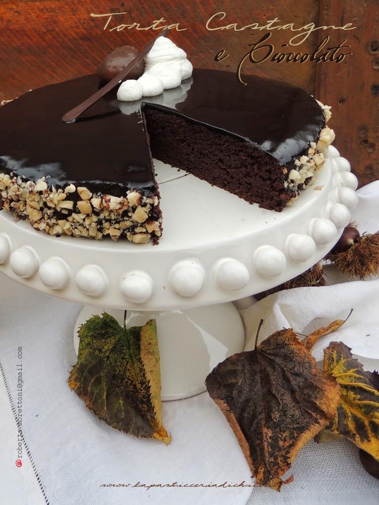 Foto Torta castagne e cioccolato
