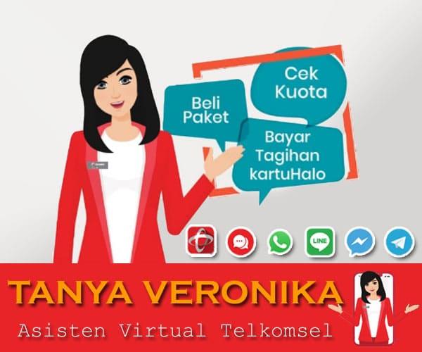 Cara Menggunakan Layanan Tanya Veronika Asisten Virtual Telkomsel