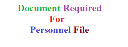 document required for personnel file