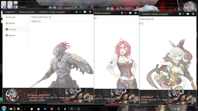 Windows 7 Theme Goblin Slayer by Enji Riz Lazuardi