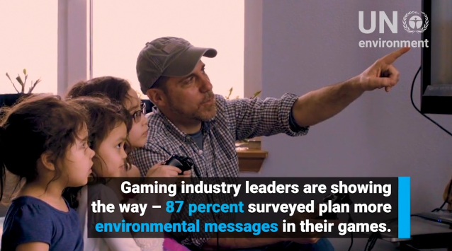 UN United Nations Environment Playing for the Planet gaming industry leaders environmental messages survey