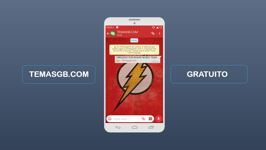 BAIXAR TEMAS GBWHATSAPP - THE FLASH